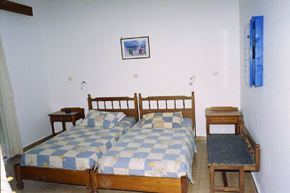 the bedroom of the studios Maria Christina,Rhodes Greece