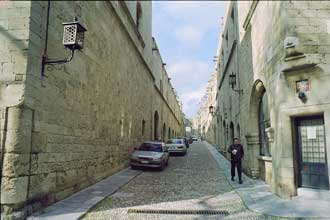 Ippoton street ,in the old town of Rhodes